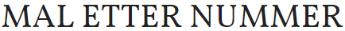 Maletternummer.no logo