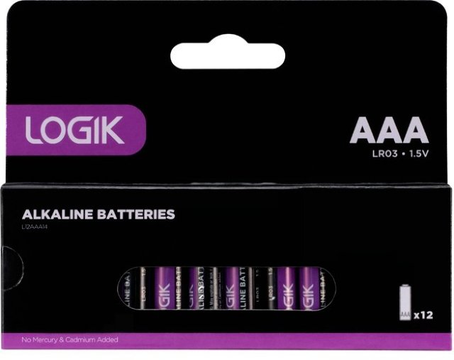 Logik alkaline 1000 mAh (12 pakning)