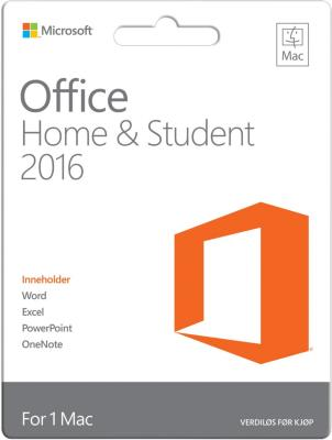 Microsoft Office Mac 2016 Home&Student (Norsk)