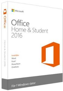 Microsoft Office 2016 Home & Student Win Norsk Medialess