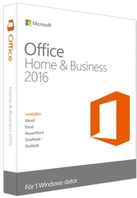 Microsoft Office 2016 Home & Business Win Norsk Medialess