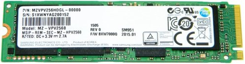 Samsung PM951-NVMe 256GB PCIe SSD