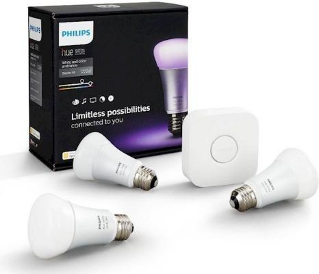Philips Hue A60 E27 Startpakke (3 lyspærer)