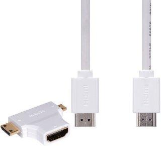 iWantit HDMI-kabel + mini/micro HDMI-adapter 1,8m