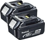 Makita BL1850 18V 5,0 Ah batteri x2