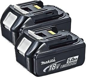 Makita 18V 5,0 Ah batteri x2