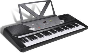 VidaXL Musikalsk Keyboard med Bokstativ