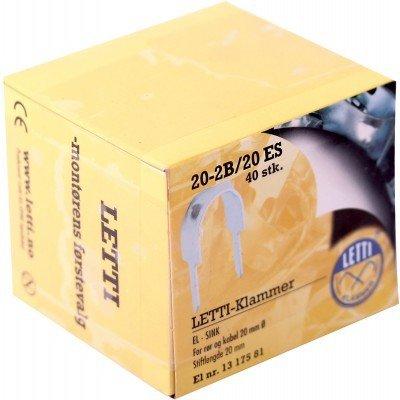 Letti klammer 20-2b/20 sg (50 stk) 1317581
