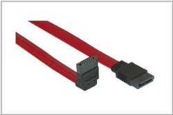 SATA Flatkabel 50cm - Vinklet