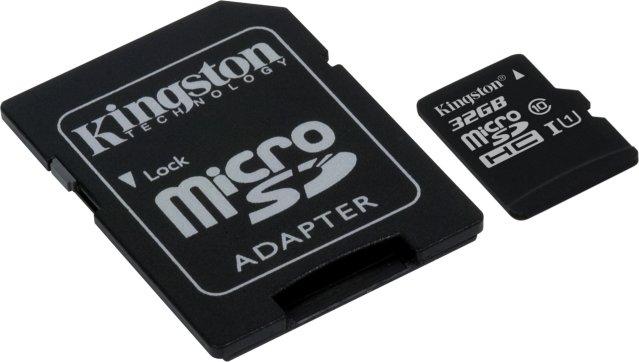 Kingston MicroSDXC 32GB UHS Class 1
