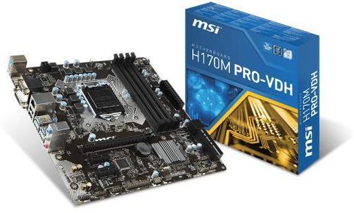 Best pris på MSI H170M Pro-VDH - Se priser før kjøp i ...