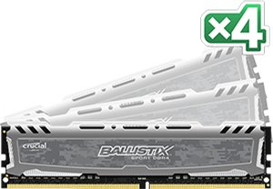 Crucial DDR4 Ballistix Sport LT 64GB 2400MHz