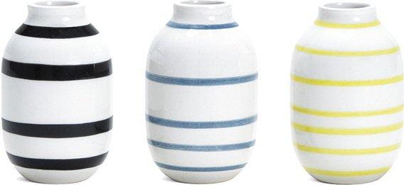 Kähler Omaggio vase 8cm 3 stk