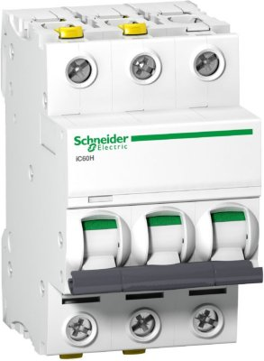 Schneider 16A C-kar 3-pol jordfeilautomat
