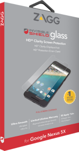 Zagg invisibleSHIELD GLASS Screen Coverage Google Nexus 5X