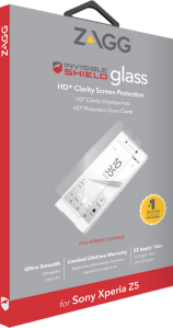 Zagg invisibleSHIELD GLASS Screen Coverage Sony Xperia Z5