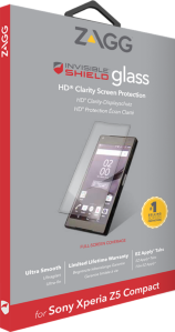 Zagg invisibleSHIELD GLASS Screen Coverage Sony Xperia Z5 Compact