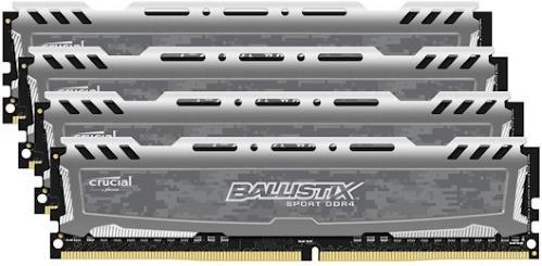 Crucial Ballistix DDR4 2400MHz CL16 16GB (4x4GB)