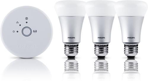 Philips Hue A19 E27 Startpakke (3 lyspærer)