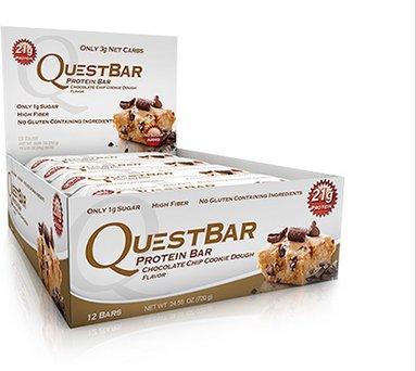 Quest Nutrition Chocolate Chip Cookie Dough, 12x60g