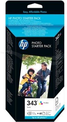 HP Fotopakke Blekk + papir
