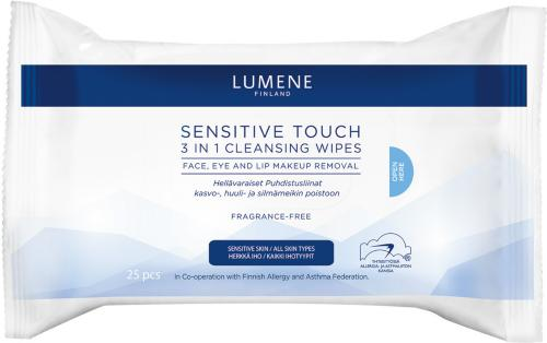 Lumene Sensitive Touch 3-in-1 Cleansing Wipes 25stk