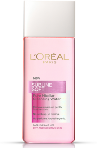 L'Oreal Sublime Soft Pure Miscellar Water