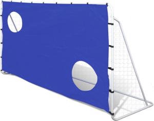 VidaXL Fotballmål Skuddvegg 240x150cm