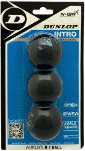 Dunlop Intro 3-pk Squashballer