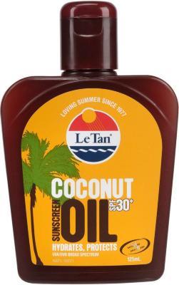 Le Tan Coconut Sunscreen Oil SPF30