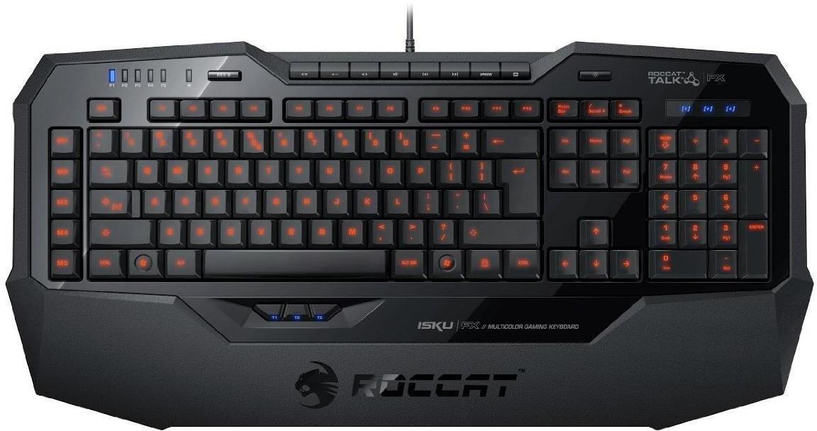 ROCCAT Isku FX Gaming Tastatur Hvit Komplett.no