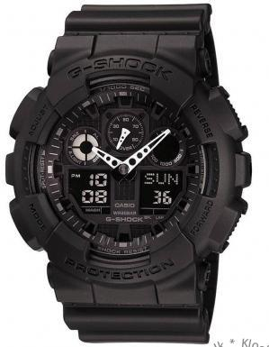 Casio G-Shock Analog- og Digitalklokke (GA-100-1A1ER)