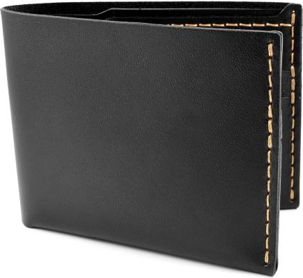 Bison Nei. 6 Wallet Jet Top Stitch