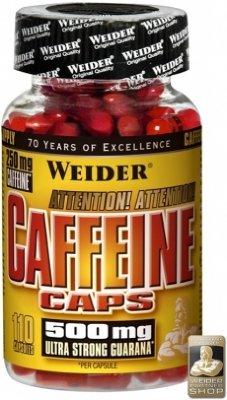 Weider Koffeintabletter 250mg m/Guarana
