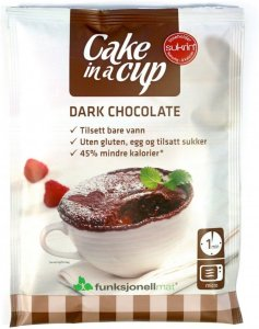 Funksjonell Mat Cake in a cup Mørk Sjokolade 75g