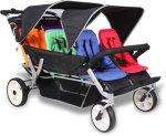 Babytrold Trille Buss Barnevogn med motor og 6 seter