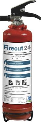 Fireout 24 Pulverslukker 2 KG