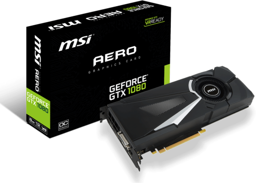 MSI GeForce GTX 1080 AERO OC