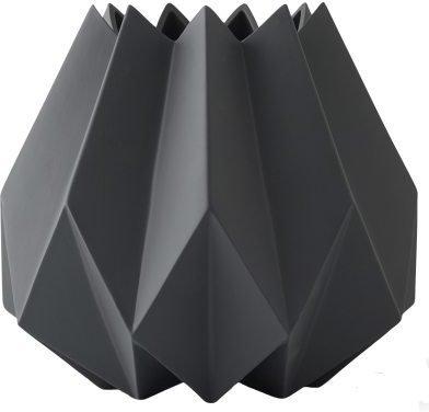 Menu Folded vase høy, carbon