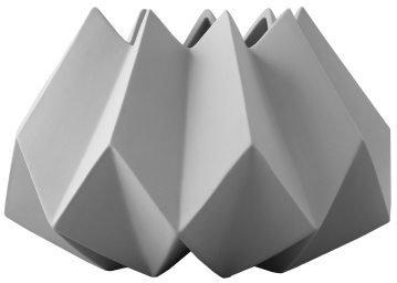 Menu Folded vase S, lysegrå
