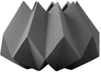 Menu Folded vase S, mørkegrå