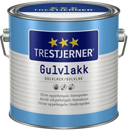 Trestjerner Gulvlakk Vannbasert Silkematt (3 liter)