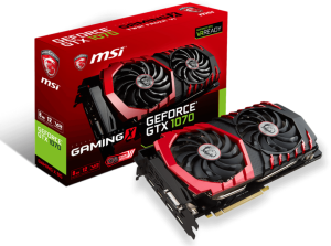 MSI GeForce GTX 1070 Gaming X 8G