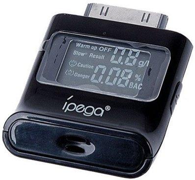 iPega alkoholtester med LCD skjerm til iPhone, iPod/ iPad 2 og 3