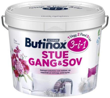 Butinox Interiør Stue, Gang, Sov (3 liter)