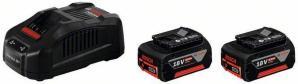 Bosch 2XGBA 18 V 6,0 Ah M-C + GAL 3580 CV