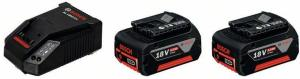 Bosch 2xGBA 18 V 5,0 Ah M-C + AL 1860 CV