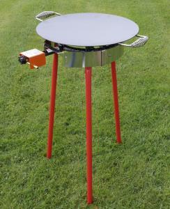 Hällmark Stekehelle 48 cm med Stativ og Brenner