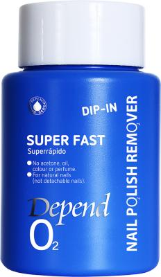 Depend O2 Nail Polish Remover Dip In Super Fast 75ml