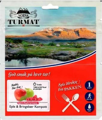 Norsk Turmat Eple&Bringebær Kompott